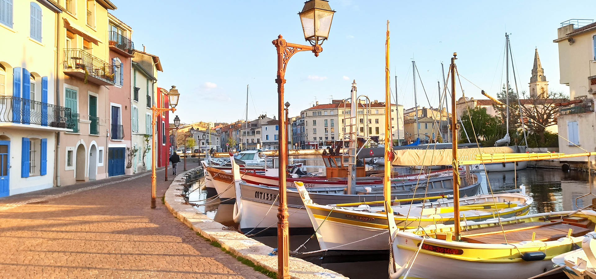 Stroll through the city center of Martigues