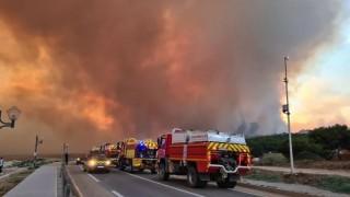 Feu de forêt à Martigues