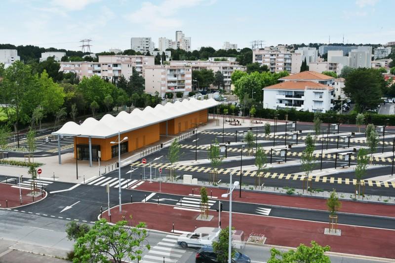 Pôle d'échange - Gare routière à Martigues