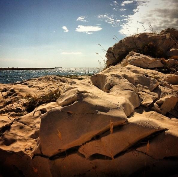 Coastal path, remains in Martigues
