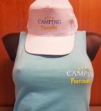 Gorra blanca Camping Paradise