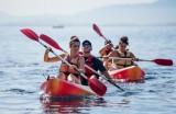 Kayak en mer méditerranée