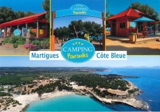 Carte postale Camping Paradis de face