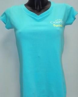 Tee-shirt Femme Camping Paradis de face