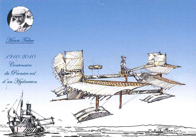 Seaplane postcard