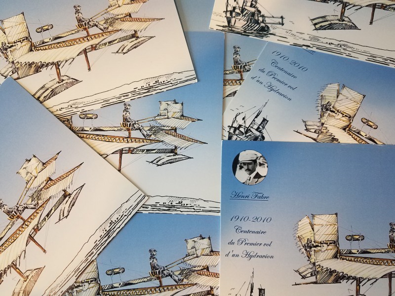 presentación - postal de hidroavión