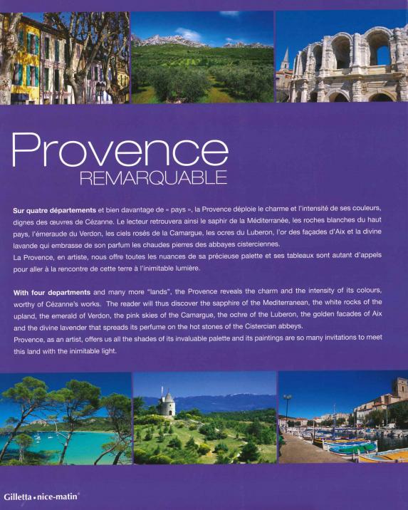Dos du  Livre Provence remarquable