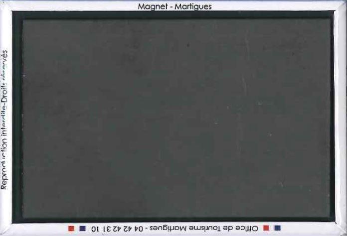 Dos du Magnet rectangle Camping Paradis - côte magnétique