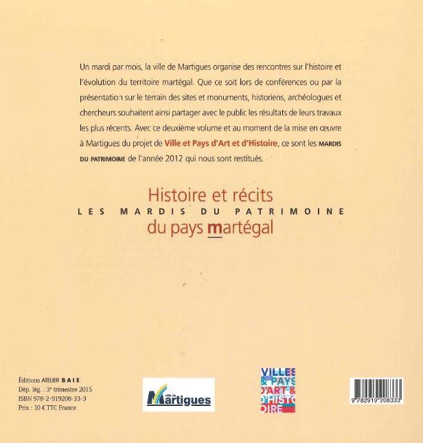 back of the book - histoire et récits du Pays Martégal