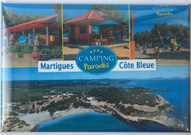 Camping Paradis rectangle magnet
