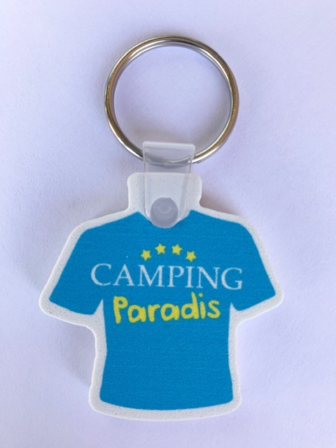 Schlüsselanhänger Camping Paradise T-Shirt