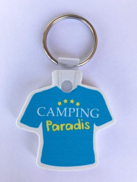 Porte clé Tee-shirt Camping Paradis