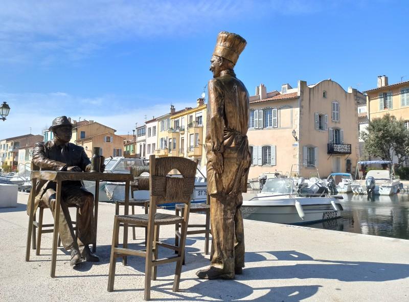 Statues Fernandel et Bourvil à Martigues