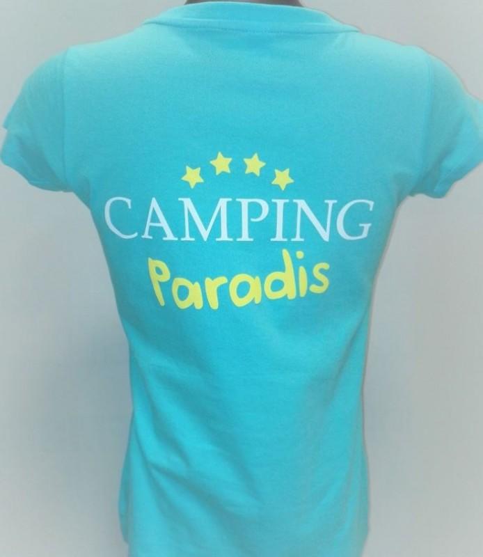 Kampierendes Paradies-Frauen-T-Shirt