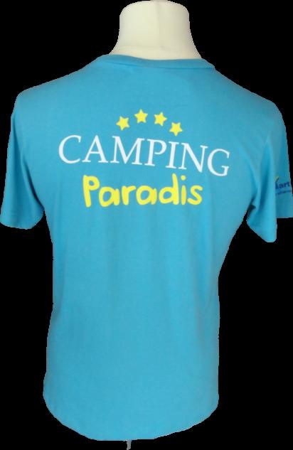 Tee-shirt Unisexe Camping Paradi de dos